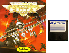 """WINGS OF FURY : floppy disc 3,5"""" Commodore Amiga backup game disk (READ)"""
