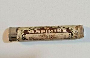 Vintage BAYER Aspirin Aspirine Tube - Very Rare - Beautiful