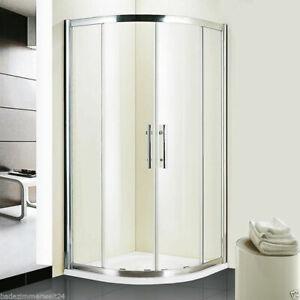 Duschkabine Serie DR200 ESG Glas Viertelkreis 80x80, 90x90 cm Corrina Duschwanne