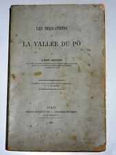 Les irrigations de la vallée du Pô Italie Piémont Canal Cavour Canal de Casale