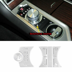 Silver Alloy Center Shift Gear Seletor Button Decals Cover For 12-2015 Jaguar XF