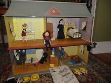 MADELINE OLD HOUSE IN PARIS DOLL HOUSE FULLY FURNISHED WITH DOLLS & ACCESSORIES