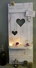 NEU ♥Shabby chic Fensterladen♥ REGAL mit Herzen Holz weiß ♥ Landhaus Deko Unikat
