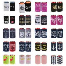 2Pcs Stubby Beer Tin Can Cooler Cover Holder Wedding Favor Funny Party Decor