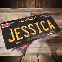 Create 1950-1990's California Personalized Black Blue White Custom License Plate