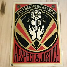 Shepard Fairey Don't Be a Mother#X!!! MFR poster Obey Giant S/N art print mother