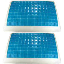 """2 Queen Size Gel Memory Foam Cooling Pillows Therapeutic 28""""x16""""x5"""""""