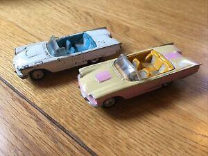 2 x Vintage Corgi Thunderbird Cars / Squarebirds. 1 repainted 1 playworn Diecast