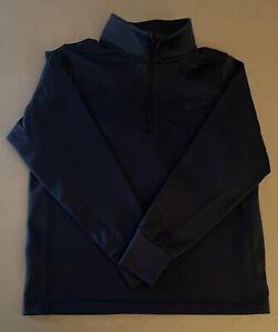 EUC Nike Big Boys Dri-Fit 1/4 Zip Black Long Sleeve Pullover~ Size Large