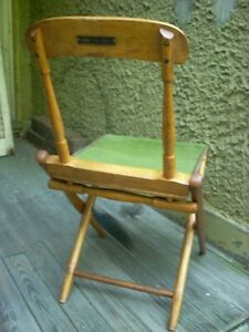 Antique Civil War Campaign Field Military Camp Folding Chair HARRY T. B. GUSTIN