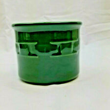 """Longaberger Candle Holder Green 4.5"""" Tall"""