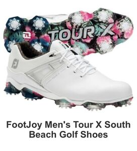 Footjoy Tour X South Beach Limited Edition Mens Golf Shoe Size 10.5 W