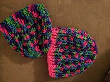 Beanie hat hand crocheted, unisex, acyrilic yarn, choice of color