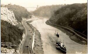 Postcard Bristol Somerset the Portway and River Avon paddle steamer RP Garratt