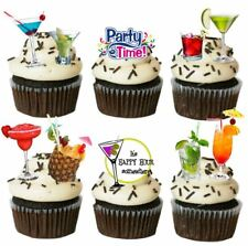 Personalised Edible Cocktail Party Stand up Cupcake Toppers