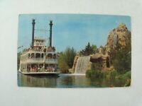 Vintage 1960s Disneyland Mark Twain Steamboat Frontierland Unposted Postcard