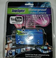 NEW SEALED Snap Sights Waterproof Video Camera Camcorder Videocamera SS1000