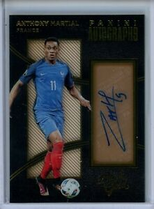 2016-17 Panini Black Gold Auto #A-AM Anthony Martial France