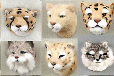 (8) Different Furry Wild Carnivour Animal Magnets Like Leopards, Cougars, Etc.