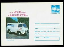 "1981 Red Cross,Ambulance Service,Croix Rouge,Romania,Ambulance type ""TV"",cover"