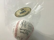 Autographed Stamped baseball signed by the 1985 Chicago Cubs the whole team