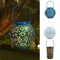 Solar Power LED Lantern Garden Hanging Lamp Lawn Landscape Outdoor Decor E0Q0