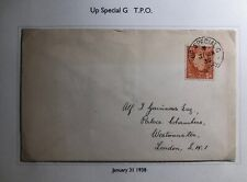 1938 Up Special England Cover Traveling Post Office To London