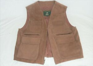Orvis size L hunting fishing leather vest LN condition