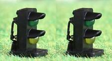 Pack of 2 OO Gauge Green / Yellow 2mm LED Dwarf Signals 12/16 Volt