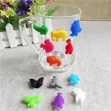 12Pcs Silicone Animal Shape Wine Glass & Drink Markers Charms Party Supply
