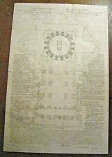 1773 - Carlo Losi & Maderno / Basilique St Pierre Pietro / Plan Pianta 49x74cm