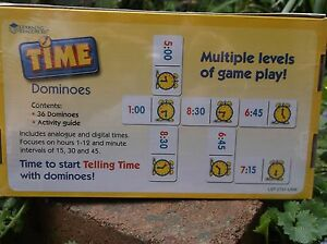 TIME DOMINOES  maths games  age 6yrs+ BNIB 36 dominoes and activity guide