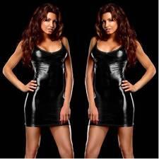 Sexy Lace Faux Leather Lingerie Underwear Dress bodysuit Skirt Sex Toys W072