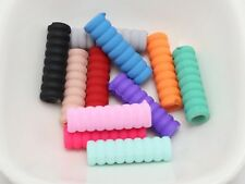 100 Mixed Matte Color Rubber Tone Acrylic Tube Spacer Beads 24X7mm With Big Hole