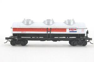 HO Bachmann? Exxon 40ft Triple Dome Tank Car, Modified For Kadee, Excellent Cond