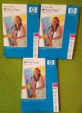 NEW 60 SHEETS (3 PACKS) HP Premium Plus Photo Paper, High Gloss 4 x 6 Inches