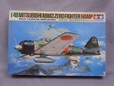 Tamiya Mitsubishi A6M3 Zero Hamp 1/48 Scale Box Toy War Aircraft Display PM333