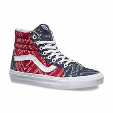 4b4ca8fe58 Vans SK8 Hi Reissue Ditsy Bandana Chili Pepper Skate Shoes Womens Size 9.5