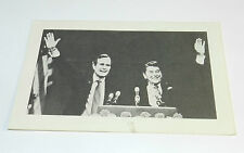RONALD REAGAN & GEORGE BUSH 1980 ORIGINAL POLITICAL CAMPAIGN POST CARD