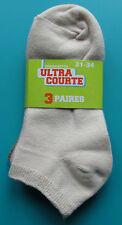 LOT 3 PAIRES DE CHAUSSETTES COURTES 31/34 rose kaki écru fille coton NEUF