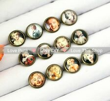 12pairs10mm Fashion Earrings Stud Earrings Glass cabochon Earrings The Monroe