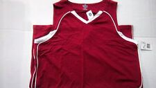 Nwt Womens Russell Athletics Maroon & White V-Neck Basketball Jersey Size Xl
