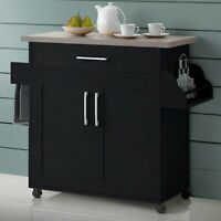 Kitchen Carts With Storage And Drawers 2 Door Bar Brown Rolling On Wheels Island