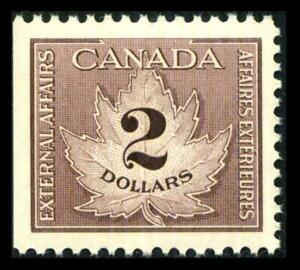 Van Dam FCF4 CANADA REVENUE 2$ Brown CONSULAR FEE MNH $80+ SEE PHOTOS Lot L-538