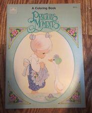 ~Vintage 1990 Precious Moments Golden A Coloring Book #1631-14