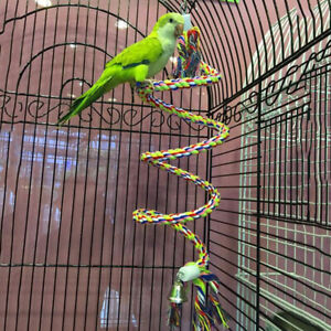 Parrot Bird Swing Stand Chew Hanging Rope Bite Toys For Budgies Parakeet