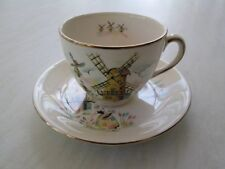 Alfred Meakin tea cup and saucer in the Little Dutch Mill windmill design