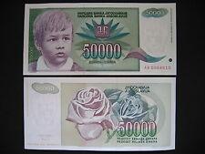 Yugoslavia 50000 Dinara 1992 (p117) UNC