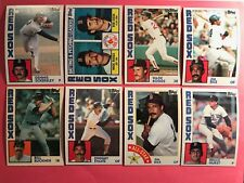 1984 Topps Red Sox master team set and traded Mint Boggs Rice Eckersley