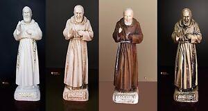 Statua Padre Pio benedicente, in resine, da 30cm in vari colori
